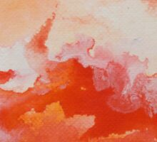 Watercolor Texture Fire and Water Sticker