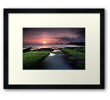 Bali Dreaming - Sunset Framed Print