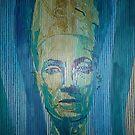 Nefertiti (Lined Abstraction)2 by Josh Bowe