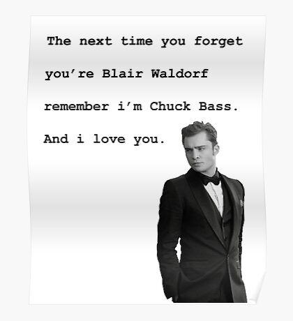 Chuck Bass Poster
