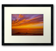 SunBurst SeaScape Framed Print