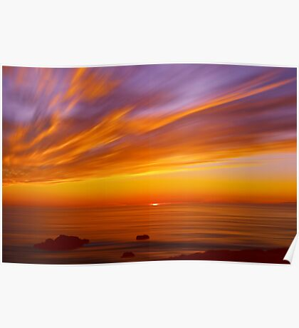 SunBurst SeaScape Poster