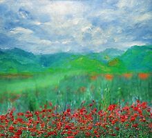Poppy Meadows by Romanovna Fine Art Prints