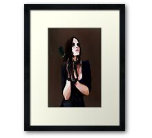 A Black Rose Framed Print