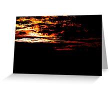 Fiery Bush Sunset Greeting Card