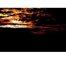 Fiery Bush Sunset Photographic Print