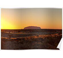 Ayers Rock Uluru Sunrise Poster