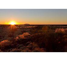 Sunrise at Ayers Rock Uluru Photographic Print