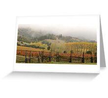 Mendocino Vineyard Greeting Card