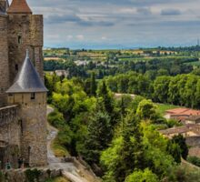 France. Carcassonne. The Walls and Towers. Sticker