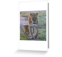 Following in Mother's Footsteps Greeting Card