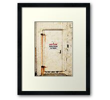 Keep Clear Framed Print