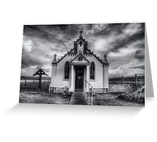 Italian Chapel Black and White Version Greeting Card