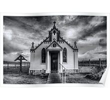 Italian Chapel Black and White Version Poster