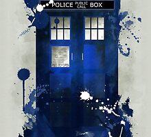 Doctor Who: Tardis Giclee Art Print by paperheroes