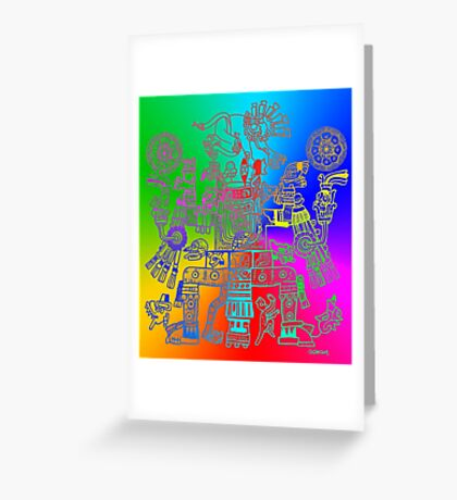 Xiuhtecuhtli, RGB Gods, Myths & Monsters Greeting Card