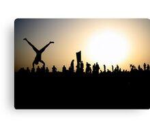 Capoeira on the Beach Canvas Print