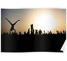 Capoeira on the Beach Poster