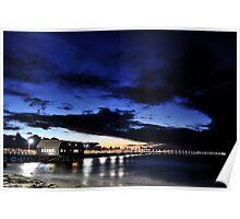Sunset - Busselton Jetty, Western Australia Poster
