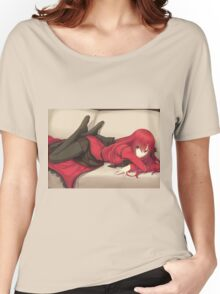 Cute Anime Red Head  Women's Relaxed Fit T-Shirt