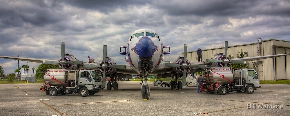 Refueling -- EAL DC-7B by Bill Wetmore