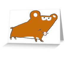 Willy the Hamster taking a walk Greeting Card