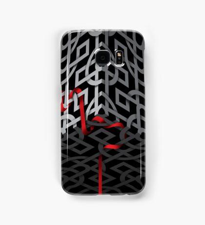 Red ribbon, grey ribbon Samsung Galaxy Case/Skin