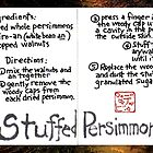 Illustrated Recipe: Stuffed Dried Persimmons by dosankodebbie