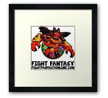 Devil Fire Framed Print