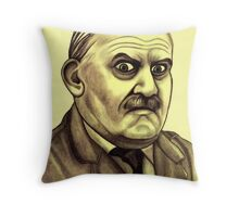 Ronnie Barker celebrity portrait Throw Pillow