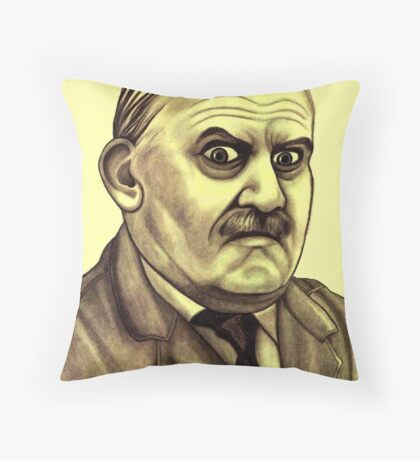 Ronnie Barker celebrity portrait Throw Pillow