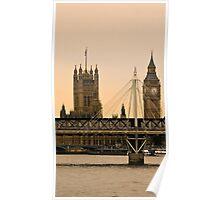 - LONDON -  BIG- BEN- RIVER-THAMES Poster