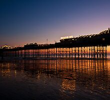 Palace Pier in Gold by Jack  Williams