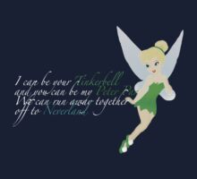 Tinkerbell. For dark colours. Baby Tee