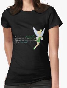 Tinkerbell. For dark colours. Womens Fitted T-Shirt