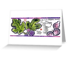 Illustrated Recipe: Figs with Sesame Sauce Greeting Card