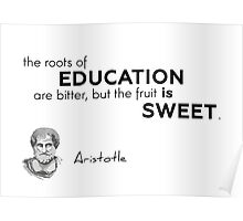 roots of education - aristotle Poster