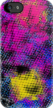 Vivid Colors Grunge Texture iPhone Case by Denis Marsili