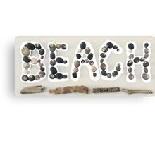 Beach Sign Canvas Print