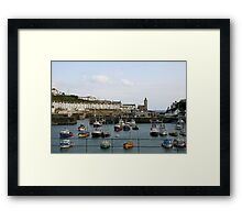 Boat Harbour in Cornwall Framed Print