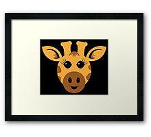Adorable Giraffe Framed Print