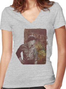 Outside The Stories Women's Fitted V-Neck T-Shirt