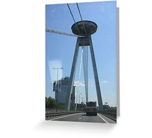New Bridge, Bratislava Greeting Card