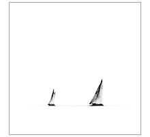 Two Sails by Enrico Martinuzzi