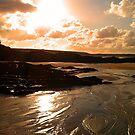 Trevone Sunset by Joanna Jeffrees