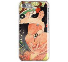 Job Cigarette Papers 1898 Vintage Poster Restored iPhone Case/Skin