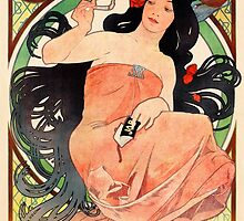 Job Cigarette Papers 1898 Vintage Poster Restored by Carsten Reisinger
