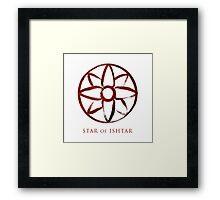 Star of Ishtar - Blood Edition Framed Print