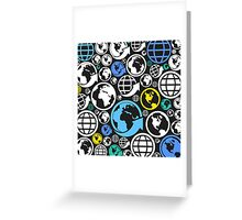 World a background Greeting Card