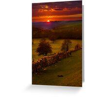 A Peak District Sunset Greeting Card
